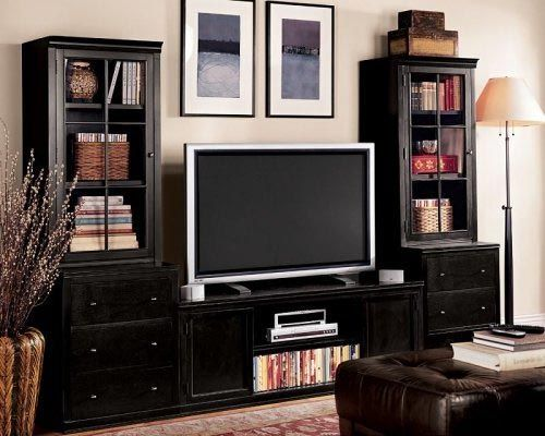 Logan Media Suite With Towers Pottery Barn Furniture Media Furniture Pottery Barn Living Room