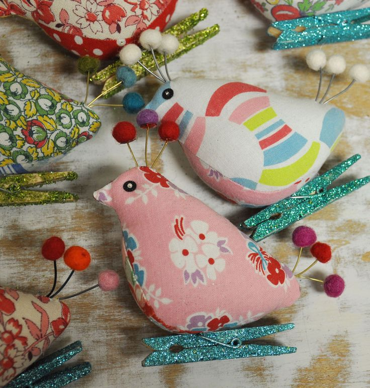 113 Best Images About Fabric Ornaments: Birds, Including