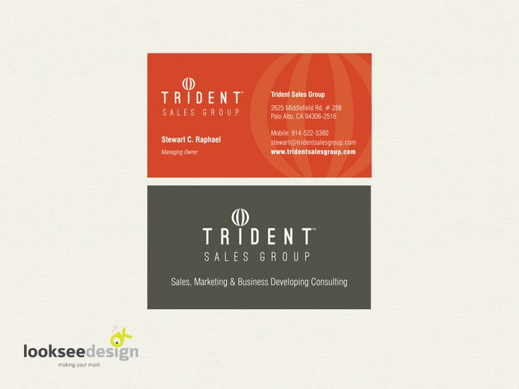 Trident Sales Group Business Card - Designed by Looksee Design