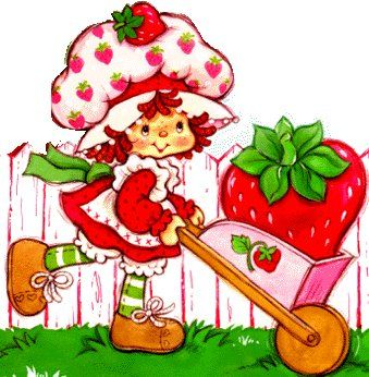 Strawberry Shortcake Shrine ❤ The Original Strawberry Shortcake and her cat, Custard was done in 1977 by Muriel Fahrion.