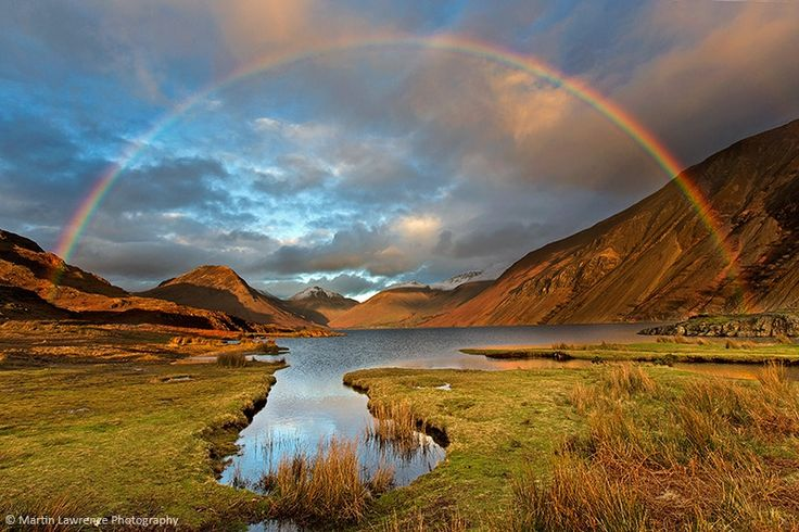 Rainbow at sunset over Wasdale | Martin Lawrence Lake District and Landscape Photography