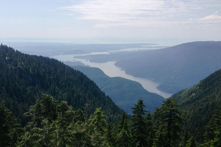 Forests and mountains forever: nice view over the Indian Arm, Vancouver, BC