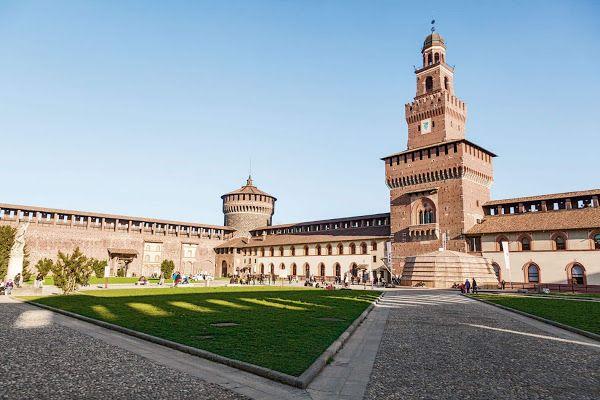 Castello Sforzesco, Milano, Italia, WEU