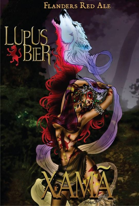 """New Job! \o/  Im proud to present one of the Wolves  of the """"pack"""" of craft beers Lupus Bier, with whom I had the pleasure to work developing art and concept of the characters, and creating visual identity and labels.  A great job that I liked very much to do and with more than satisfactory results, leaving us very happy.  I recommend all of the beers of the pack! Just too good! Try each one to create each lobe was simply FUCKASTIC!"""