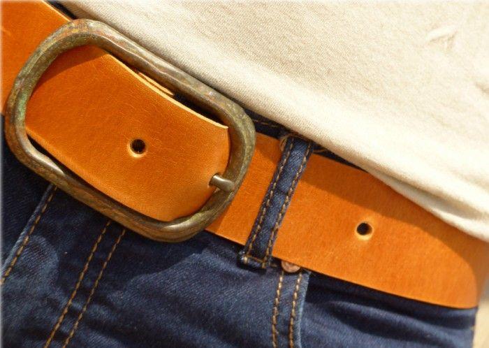 Cinturón de cuero girasole