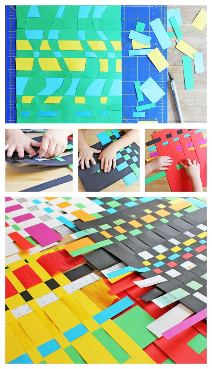 Classic Kids Art Project: Paper Weaving Activity for Kids