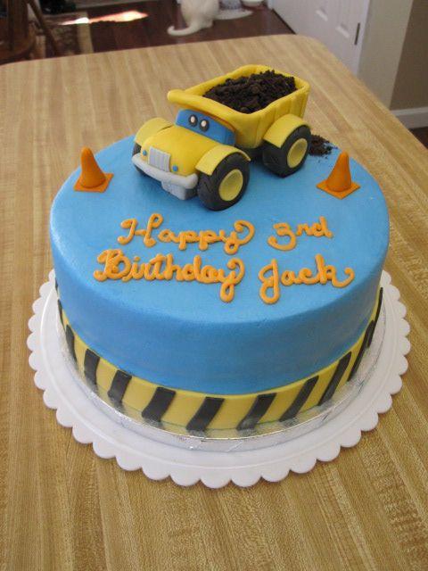 Dump Truck Birthday Theme | dump truck construction birthday cake — Children's Birthday Cakes