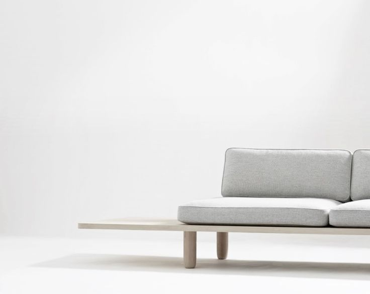 Design Sofa. Grey And Wood.