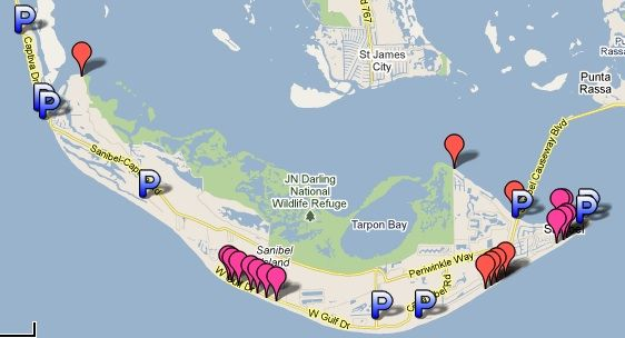 If you want to venture to other shelling beaches of Sanibel and Captiva, I've provided a parking map so you'll know which beaches have parking and what type of facilities are at each one. Click on ...
