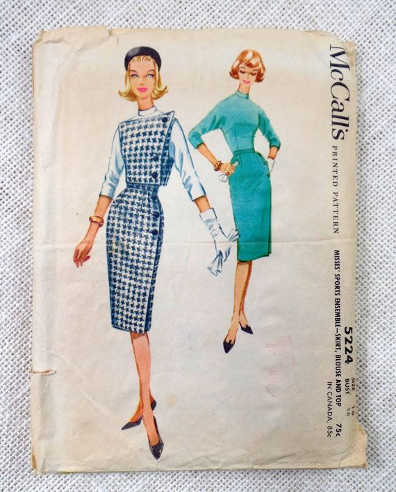 Vintage Pattern McCall's 5224 dress sewing by momandpopcultureshop