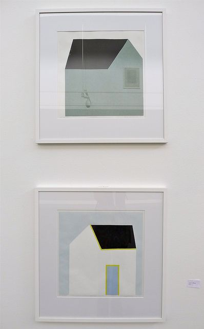 "Hanne Borchgrevink: ""Husflate"" & ""Hvitt hus"" by Bharfot, via Flickr"