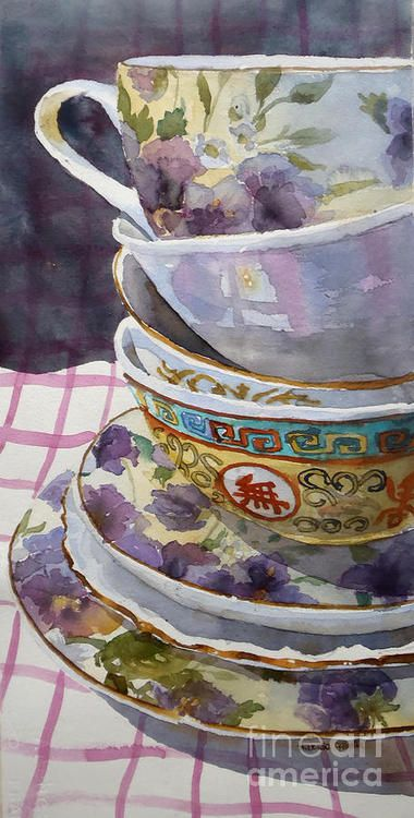 .Teatime, Marisa Gabetta, watercolor