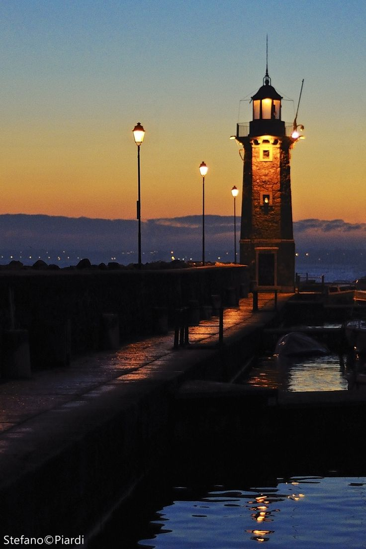 The Lighthouse of the Little Lakeport - Desenzano del Garda - Italy Brescia Lombardy