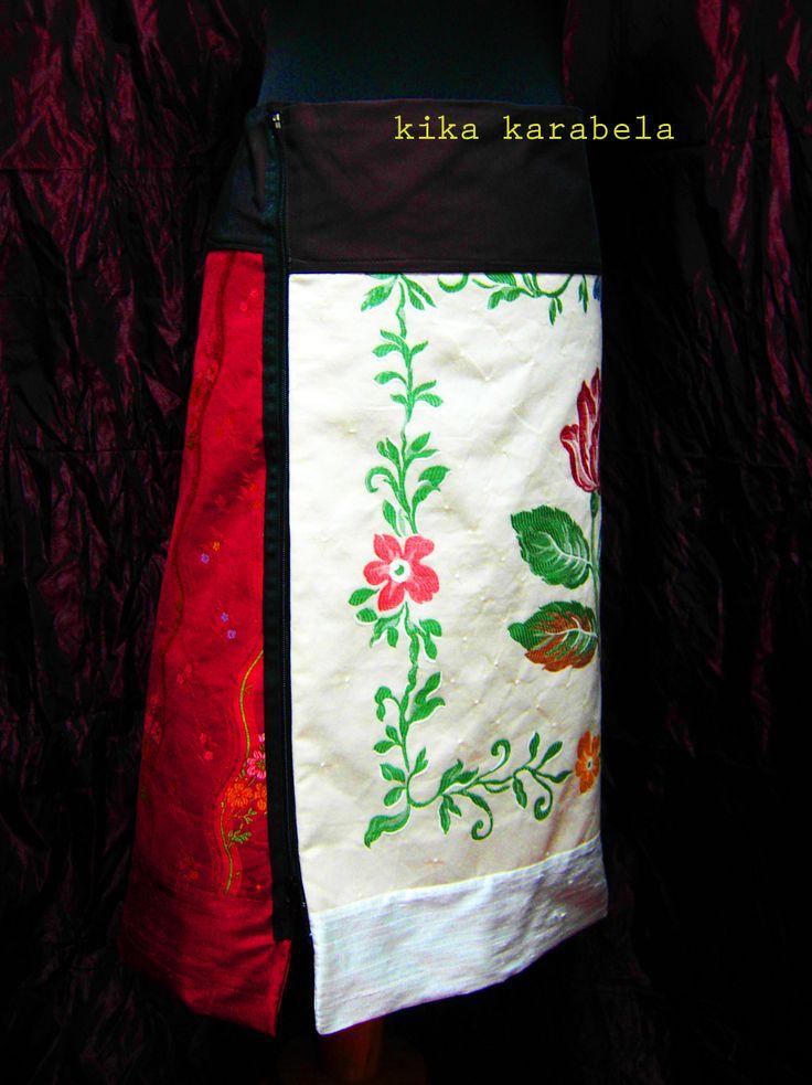 2-piece silk+cotton A-skirts / create your own combination ! AGATHI E.E.-KIKA / Clothing Store - 27 , K.OIKONOMOY str. 10683 ATHENS , GR contact : +30 210 8223604agathi.ee@gmail.com