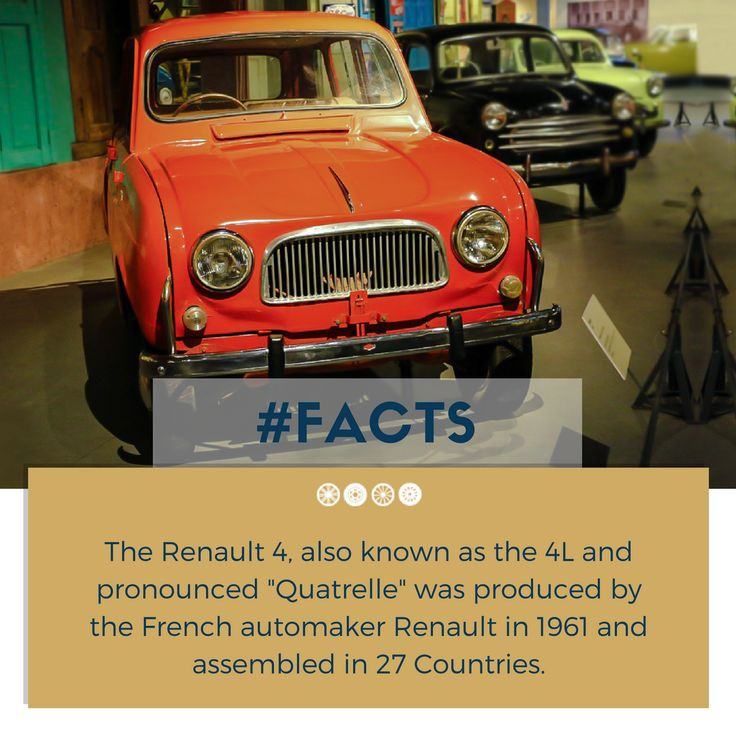 Renault 4, the first front-wheel drive family car produced by Renault!  #factfriday #facts #renault #vintagecars #vintagecollection #carcollector #heritagetransportmuseum #incredibleindia