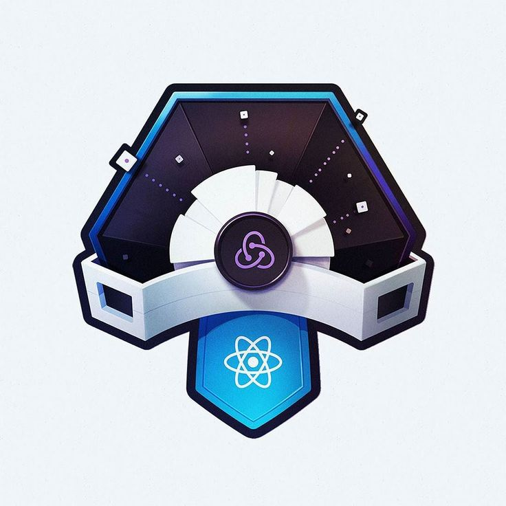 """Another happy marriage of two popular developer frameworks  Redux & React. Redux (the one with the purple logo) helps manage data storage and flow. So... that's data shooting out of it . Still working on getting better at data flow metaphors.  Course image for egghead's upcoming """"Build A React App With Redux."""" #react #redux #data #dev #webdev #course #frontend #code #coding #webdevelopment  #egghead #developers #development"""