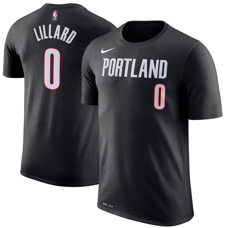 Men's Portland Trail Blazers Damian Lillard Nike Black Name & Number Performance T-Shirt