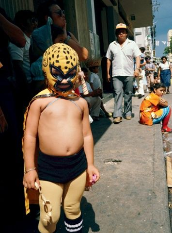 Mexican wrestler at carnival, Merida, Mexico, 1982.Nan Goldin