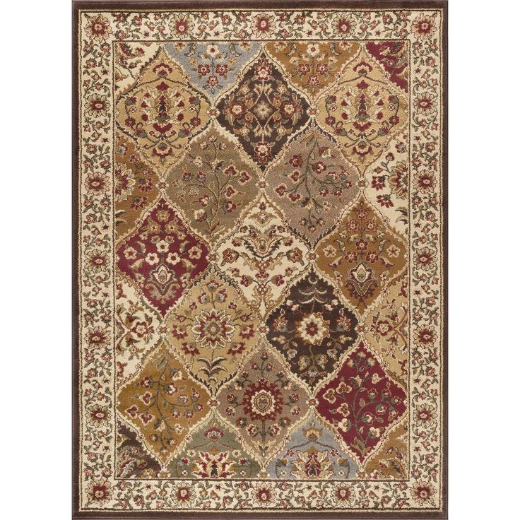 Tayse Rugs Elegance Multi 7 ft. 6 in. x 9 ft. 10 in. Traditional Area Rug-5120  Multi  8x10 - The Home Depot