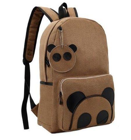 Mochila de lona urso panda