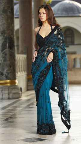 Saree #blouse #halter #wedding