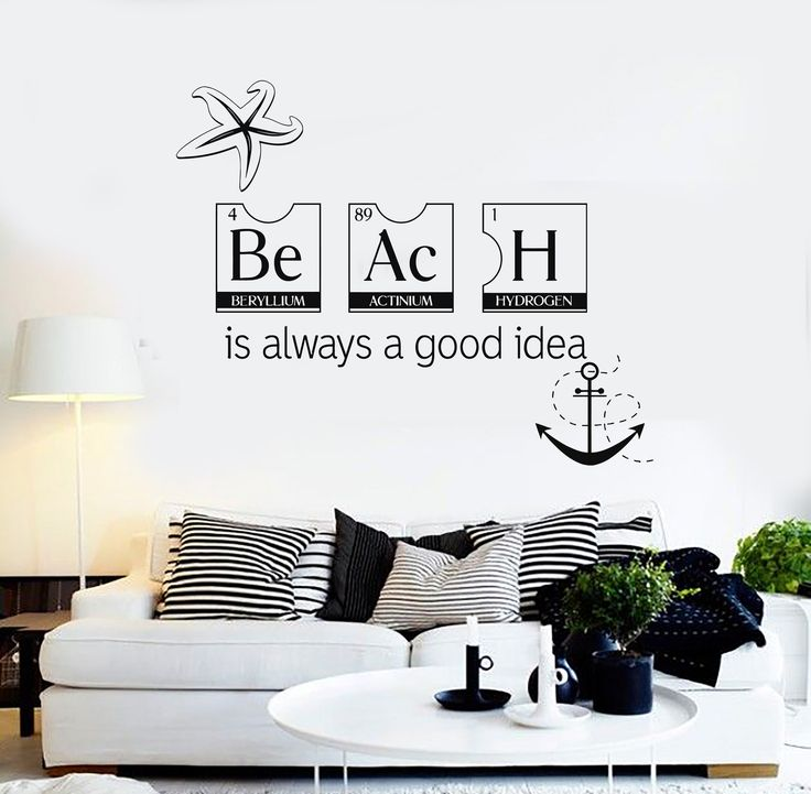 Best Beach Style Wall Decals Ideas On Pinterest Surf Room - Wall decals beach quotes