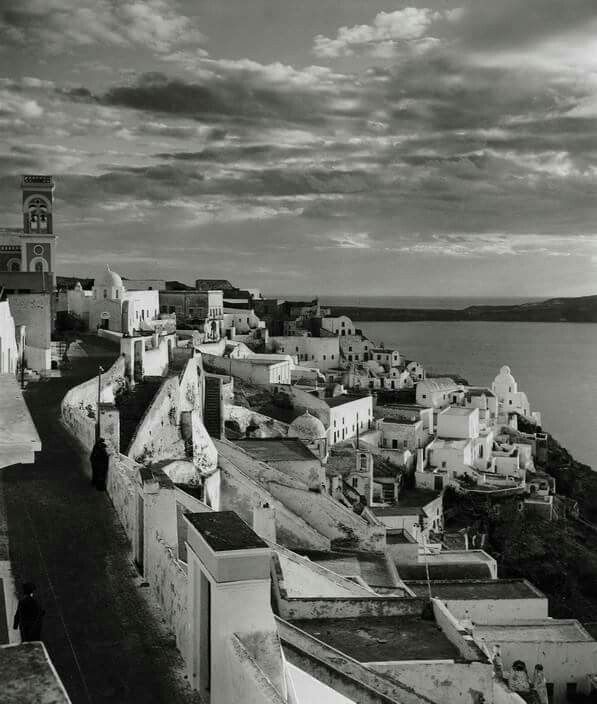 1937 ~ Fira, Santorini (photo by Herbert List) selected by www.oiamansion.com
