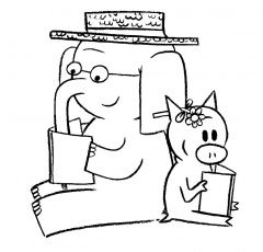 Elephant And Piggie Coloring Page In 2020 Piggie And Elephant Mo Willems Elephant Coloring Page