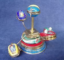 Limoges France Amusement Park / Carnival Ride w 6 Separate Hinged Trinket Boxes