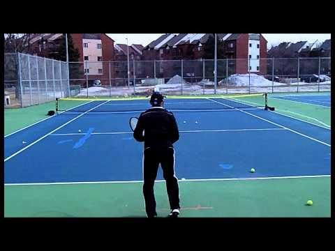 ▶ Tennis Practice 3-15 Silent Partner Ball Machine - YouTube