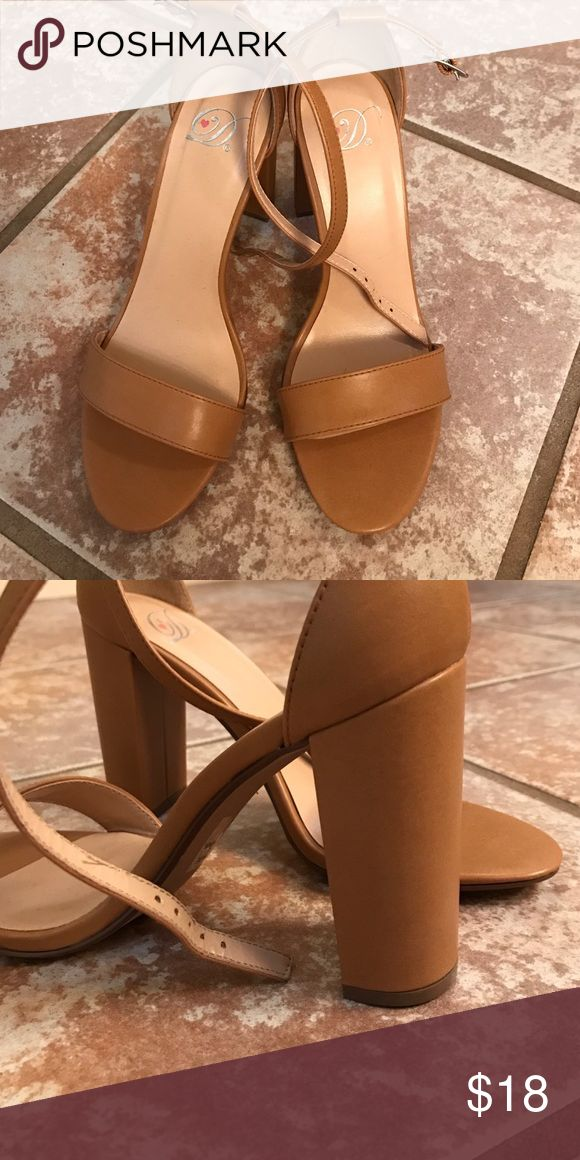 Beige high heels These shoes are really cute and simple! Never worn. Shoes Heels