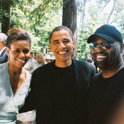 Michelle & Barack Obama with Frankie Knuckles, one of the founding fathers of HOUSE MUSIC (all night long:)