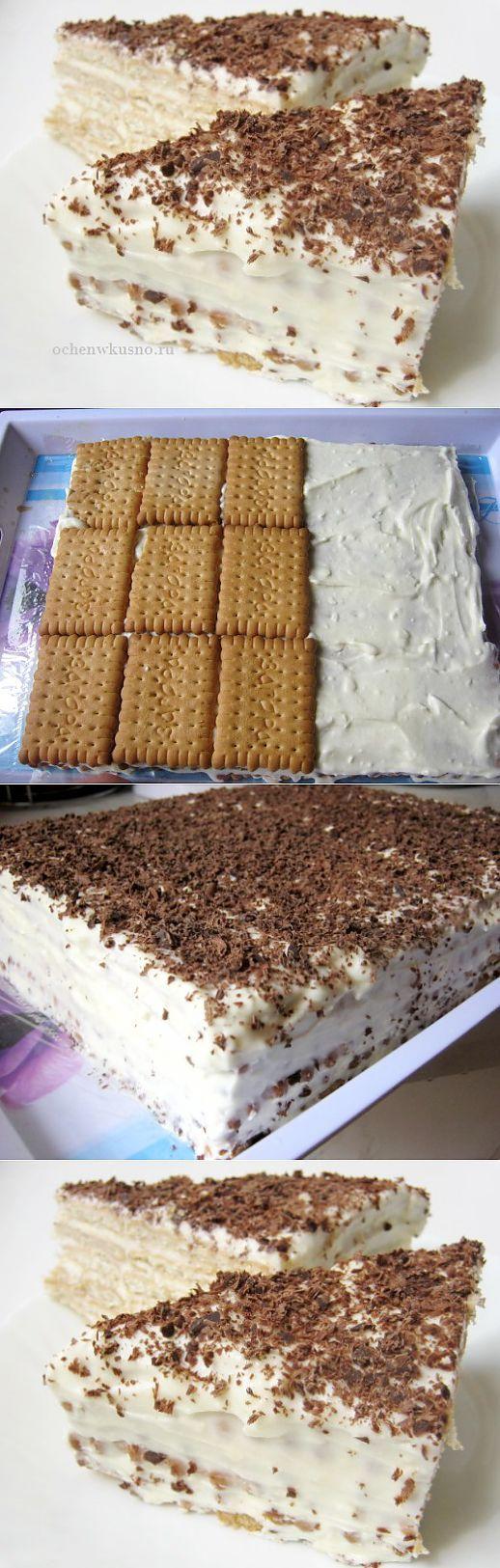 Торт без выпечки   ГОТОВИМ ВКУСНО И ПО-ДОМАШНЕМУ