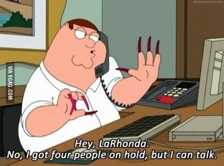 Peter Griffin works it