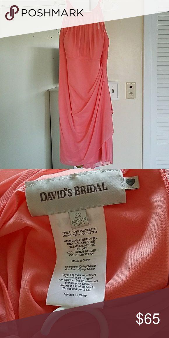 Cocktail dress Salmon bridesmaid dress worn once David's Bridal Dresses Midi