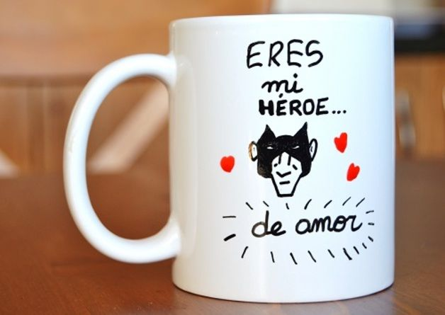 """Taza """"Héroe de amor"""""""