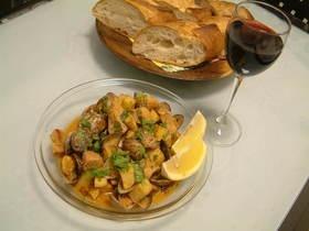 【ポルトガル料理】豚のアレンテージョ風