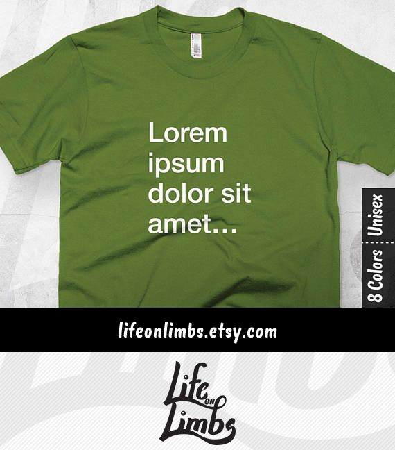 Lorem Ipsum. Wait, is that some sort of Spanish? Can you please use English? Your friend's will love this designer edition graphic tee made just for them. Graphic Designer | Graphic Design Humor | Graphic Designer Gift | Writer gift | Funny T-shirt | Click through for colour options! >>>
