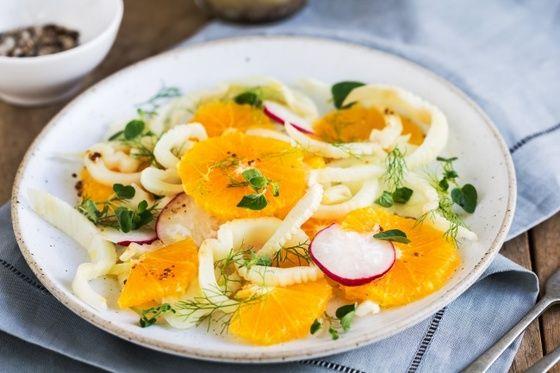 Салат из редиски и апельсинов