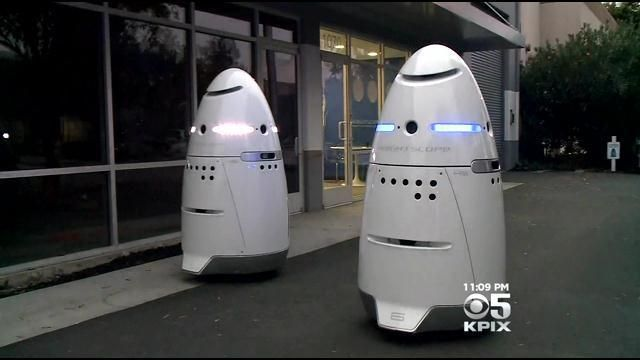 A new kind of security guard is on patrol in Silicon Valley: Crime-fighting robots that look like they're straight out of a sci-fi movie.