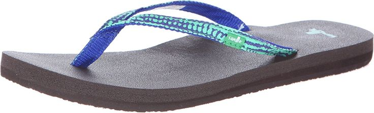 Sanuk Women's Yoga Joy Funk Peacock Sandal 9 B - Medium * Tried it! Love it! Click the image. : Sanuk flip flops