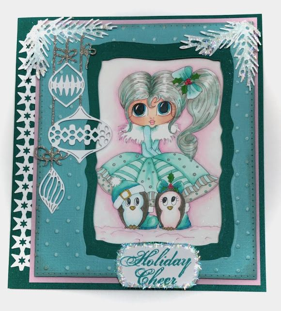 Creative Smiles - my little crafting world: The Merry Christmas Challenge #43 - My Besties Penny with Penguins