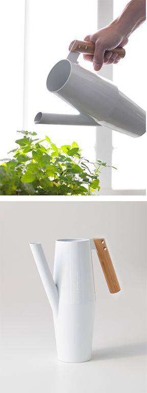 IKEA Fan Favorite: BITTERGURKA watering can. The combination of materials adds to the beauty of this simple yet sleek fan fave.