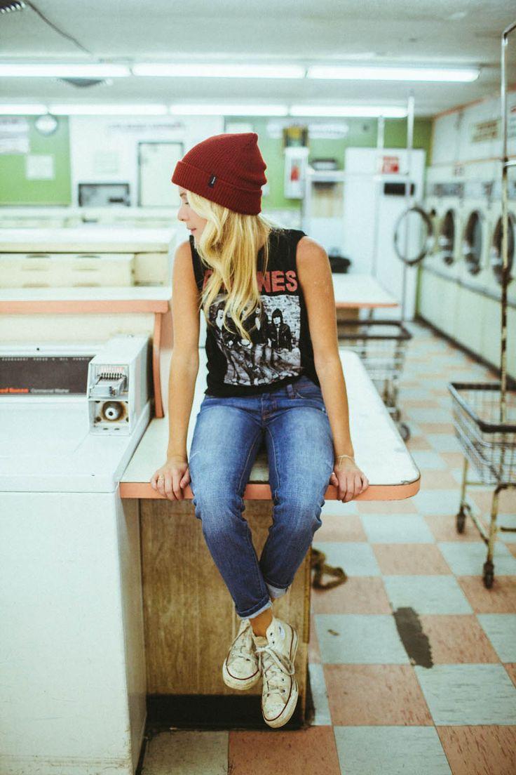 Beanie Ramones fashion Style jeans tumblr denim sneakers Allstars womenswear