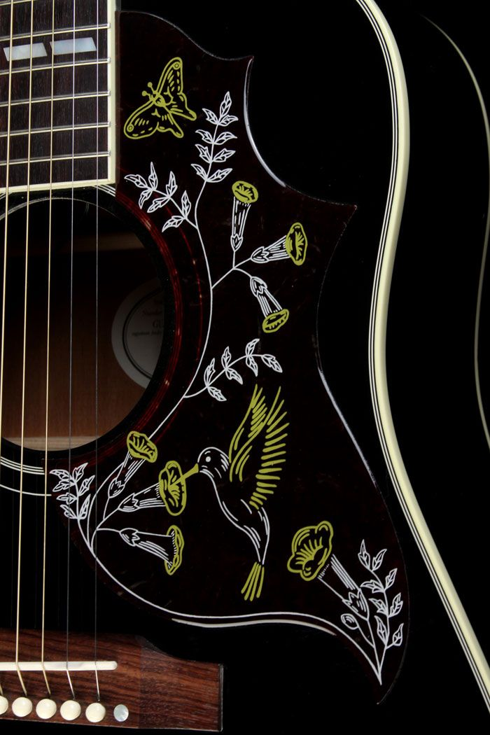 Gibson Limited Hummingbird Acoustic Guitar Ebony ..... LOVE ♥...My Dad had one of these beauties (back in the sixties, I believe)