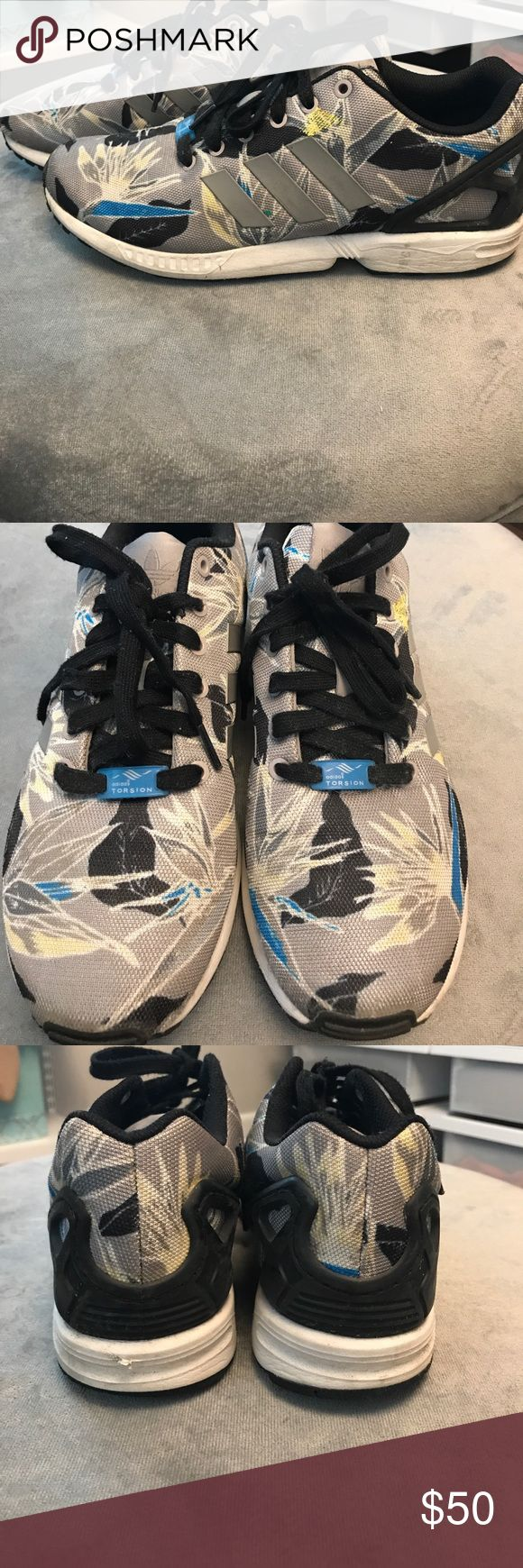 Adidas MEN ZX Flux Hawaiian Floral Adidas ZX Flux Hawaiian Floral Sneakers. Some wear to them adidas Shoes Sneakers