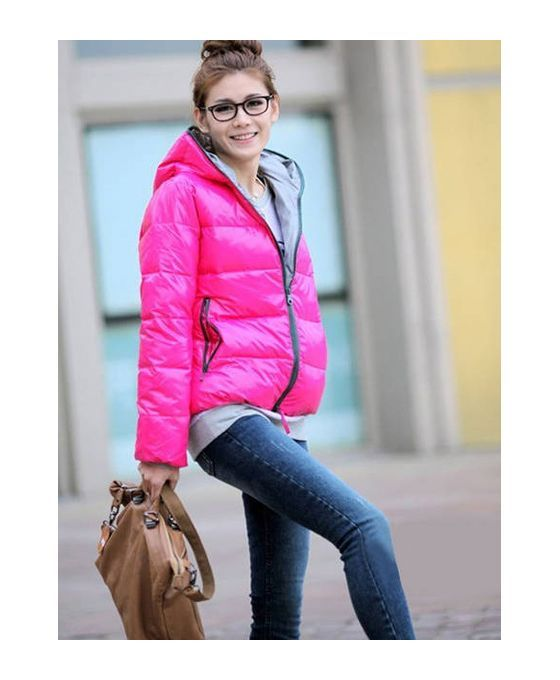 Picture color Eiderdown cotton Polyester Fluffy Coat