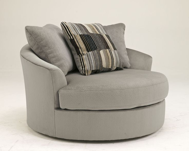 Westen   Granite Wood Oversized Swivel Accent Chair