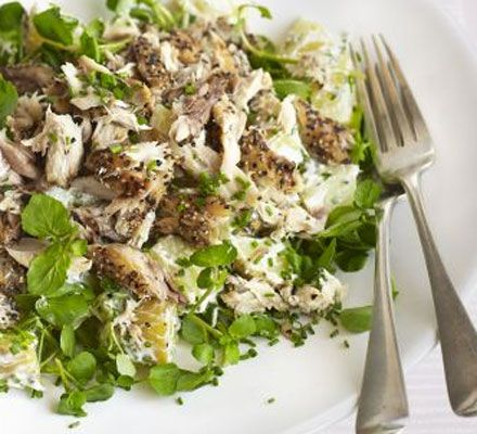 Mackerel is fantastic for you and this main-meal salad couldn't be simpler to prepare