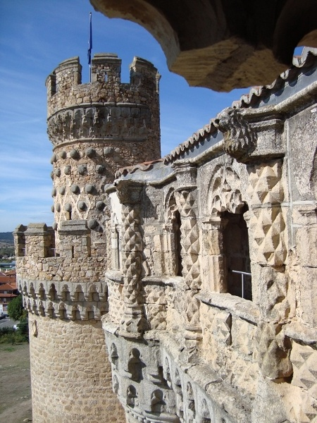 The castle of Manzanares el Real, the best kept castle in the province of Madrid.